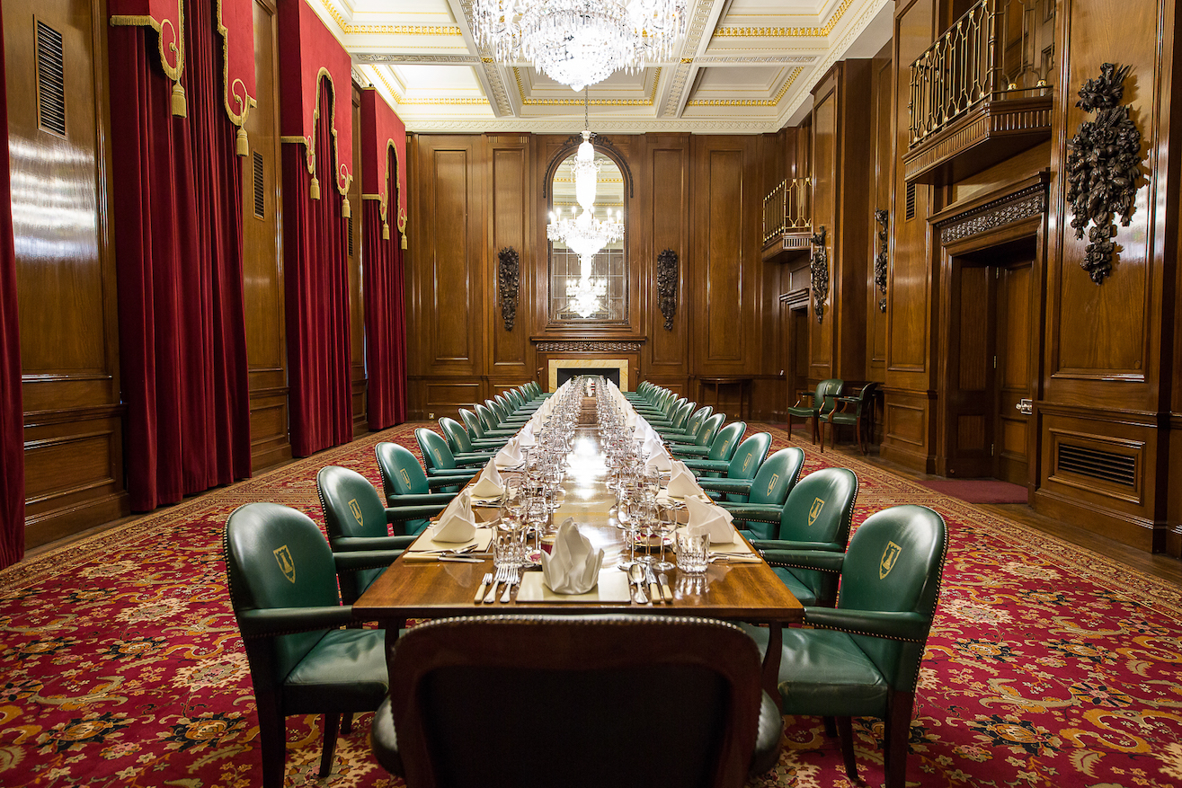 table in the court dining room
