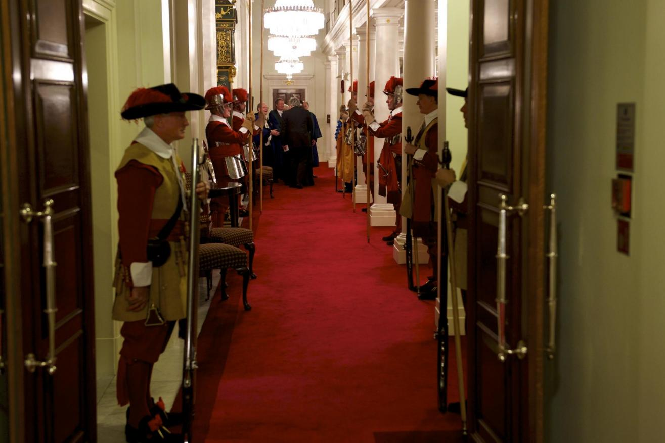 HAC Pikemen in attendance at a Livery Dinner