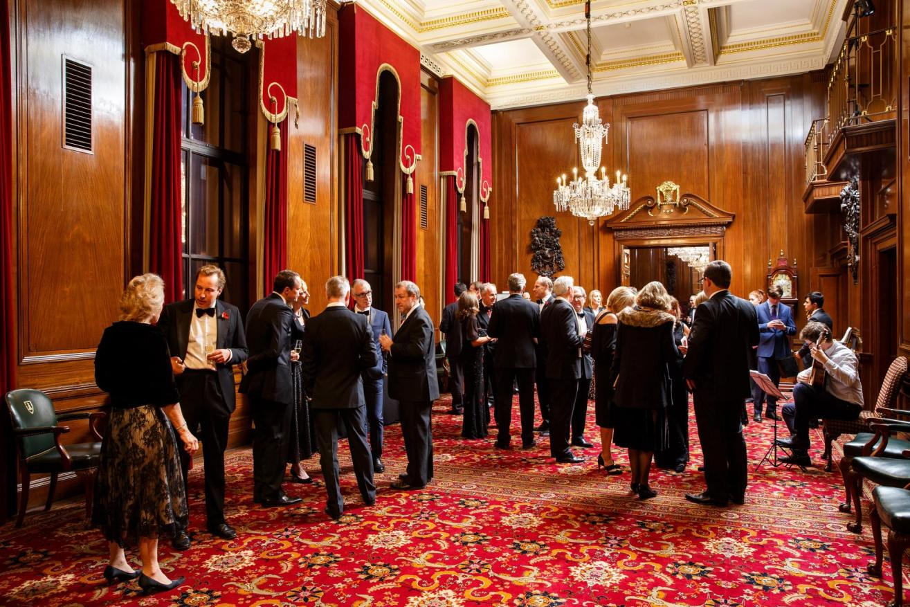 Drinks reception in Large Court Room.
